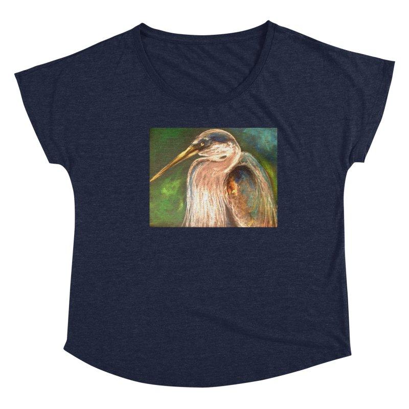 PASTLE HERON Women's Dolman Scoop Neck by designsbydana's Artist Shop