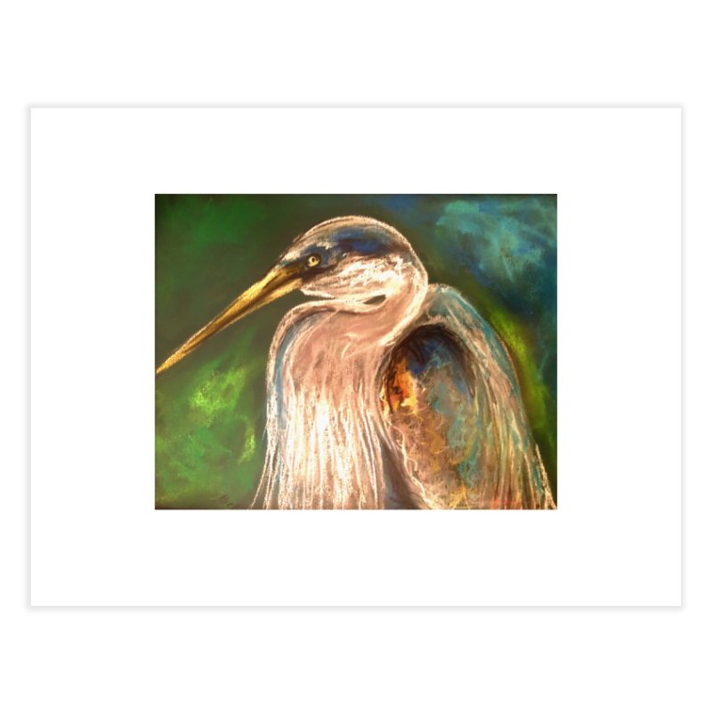 PASTLE HERON Home Fine Art Print by designsbydana's Artist Shop