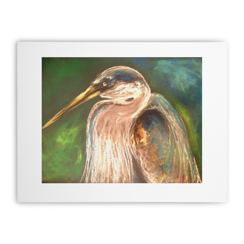 PASTLE HERON Home Stretched Canvas by designsbydana's Artist Shop