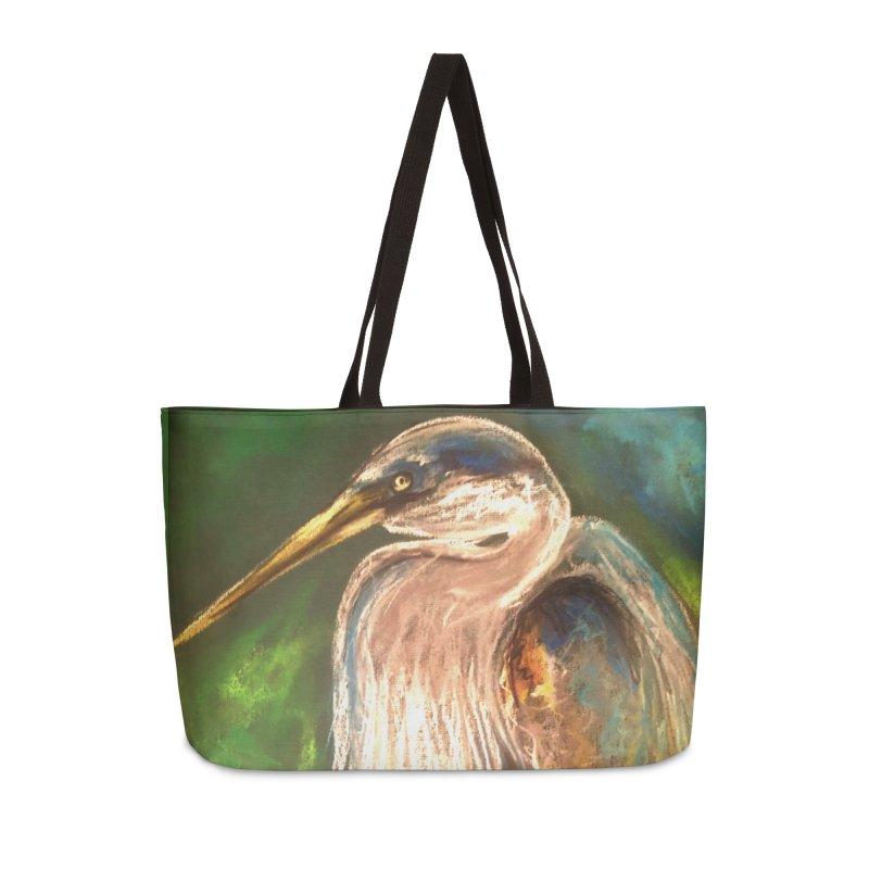 PASTLE HERON Accessories Bag by designsbydana's Artist Shop