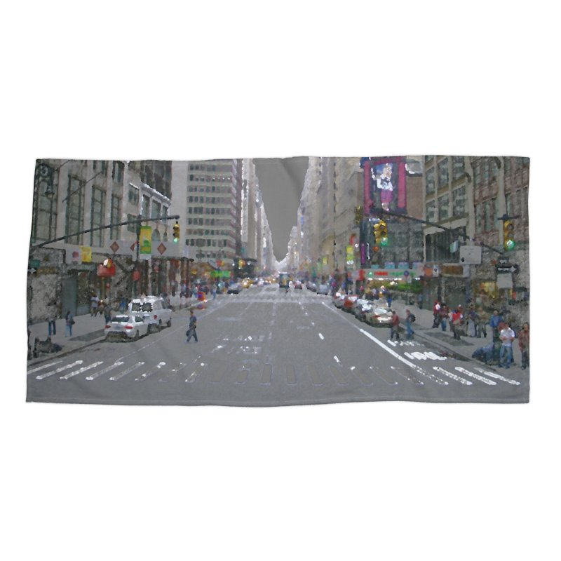 NYC PAINT Accessories Beach Towel by designsbydana's Artist Shop