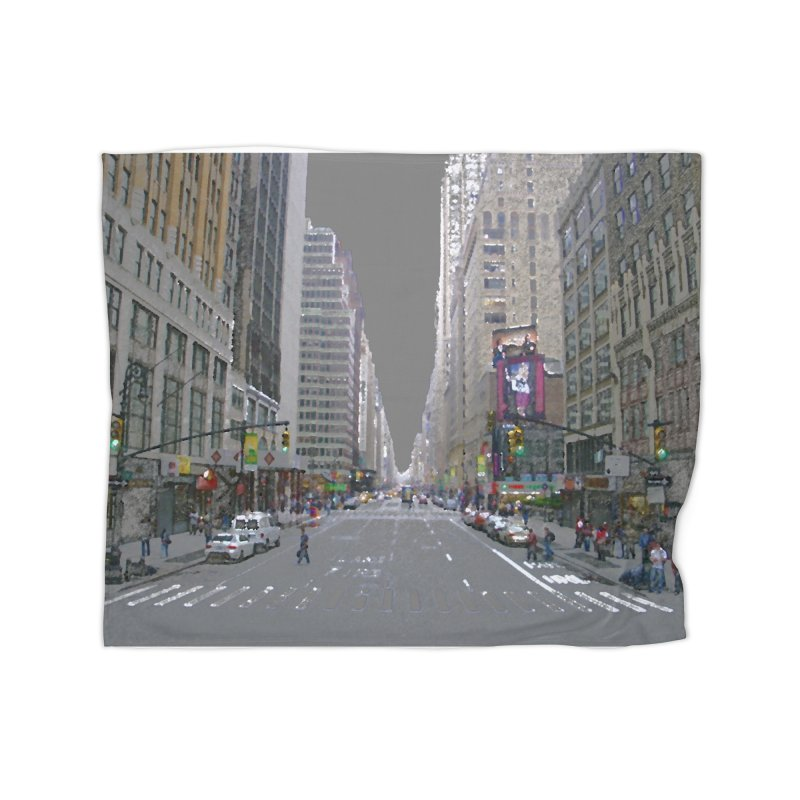 NYC PAINT Home Fleece Blanket Blanket by designsbydana's Artist Shop