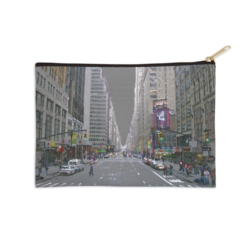 NYC PAINT Accessories Zip Pouch by designsbydana's Artist Shop