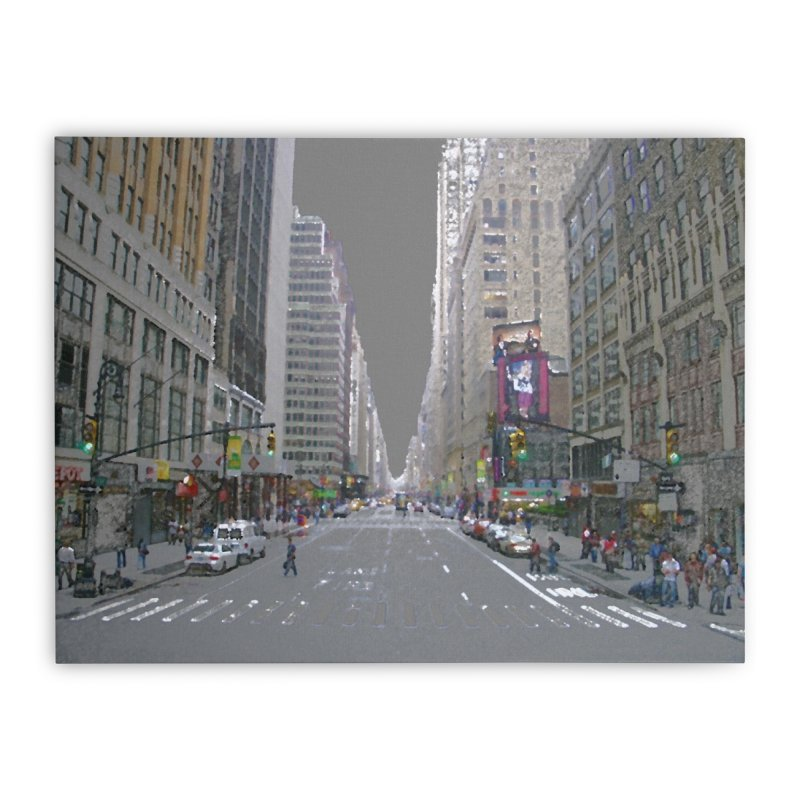 NYC PAINT Home Stretched Canvas by designsbydana's Artist Shop