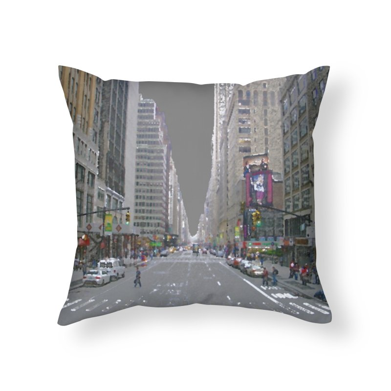 NYC PAINT Home Throw Pillow by designsbydana's Artist Shop