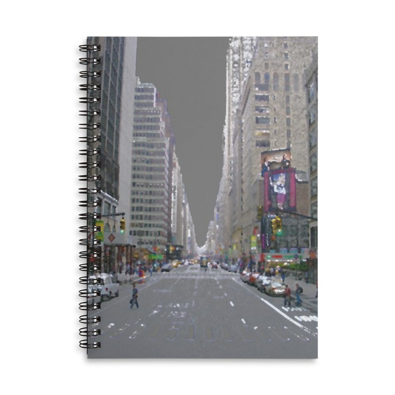 NYC PAINT Accessories Lined Spiral Notebook by designsbydana's Artist Shop