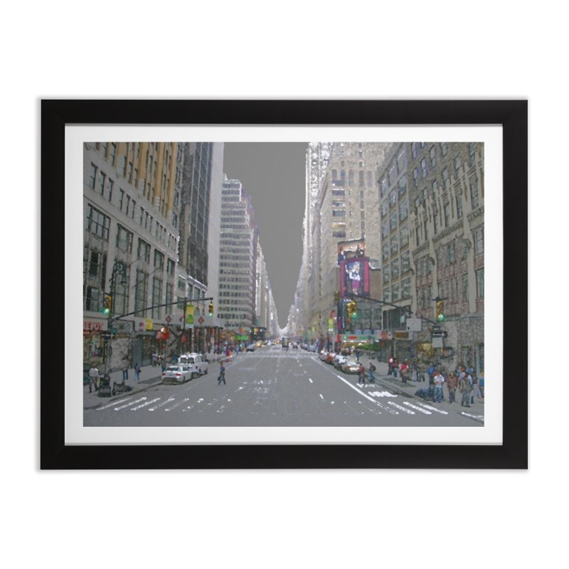 NYC PAINT Home Framed Fine Art Print by designsbydana's Artist Shop