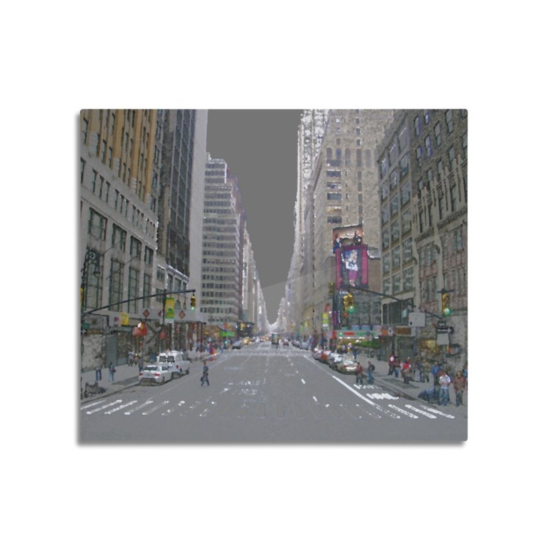 NYC PAINT Home Mounted Aluminum Print by designsbydana's Artist Shop