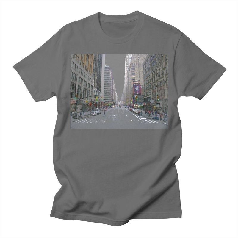 NYC PAINT Men's T-Shirt by designsbydana's Artist Shop