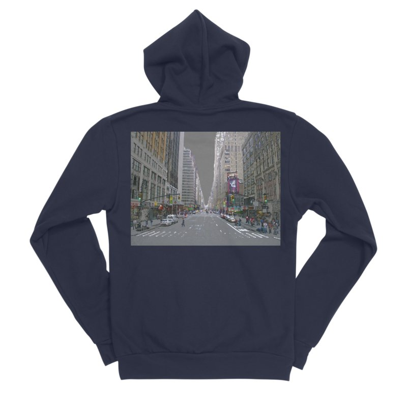 NYC PAINT Men's Sponge Fleece Zip-Up Hoody by designsbydana's Artist Shop