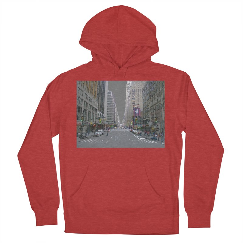 NYC PAINT Women's French Terry Pullover Hoody by designsbydana's Artist Shop