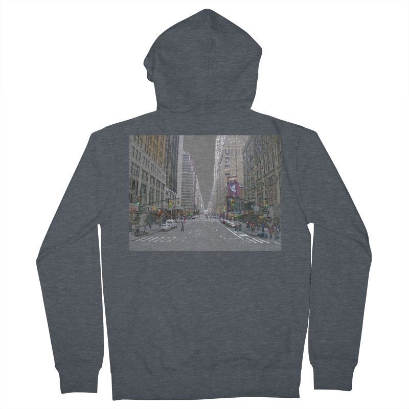 NYC PAINT Women's French Terry Zip-Up Hoody by designsbydana's Artist Shop