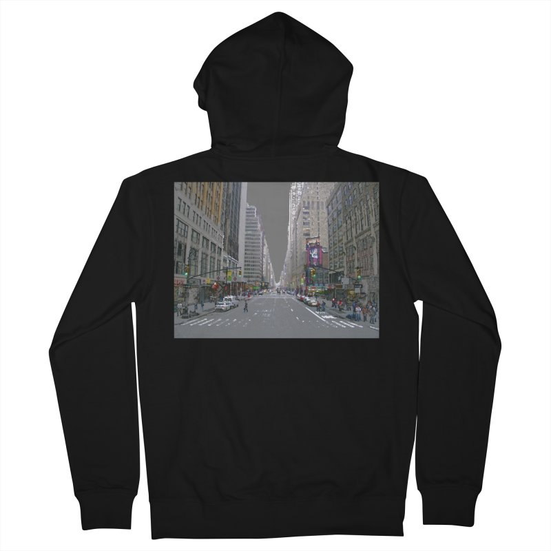 NYC PAINT Men's French Terry Zip-Up Hoody by designsbydana's Artist Shop
