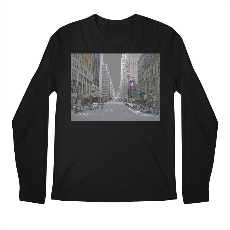 NYC PAINT Men's Regular Longsleeve T-Shirt by designsbydana's Artist Shop