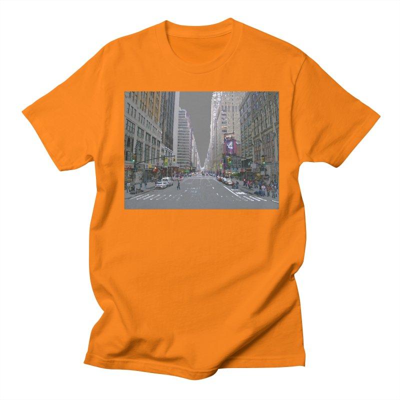 NYC PAINT Men's Regular T-Shirt by designsbydana's Artist Shop