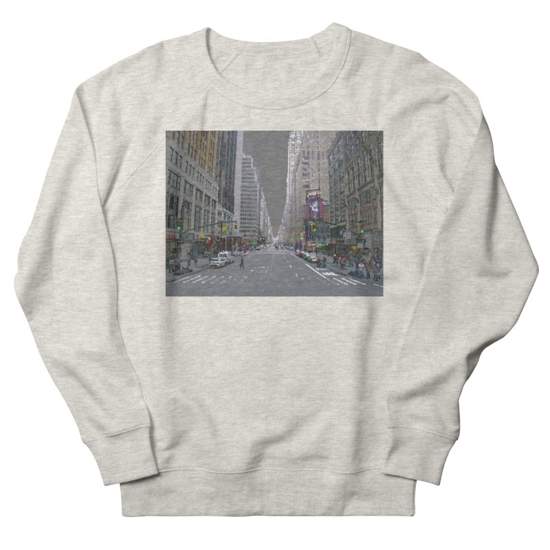 NYC PAINT Men's French Terry Sweatshirt by designsbydana's Artist Shop