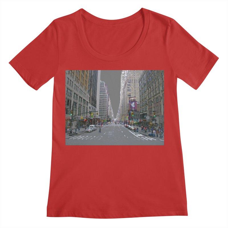 NYC PAINT Women's Regular Scoop Neck by designsbydana's Artist Shop