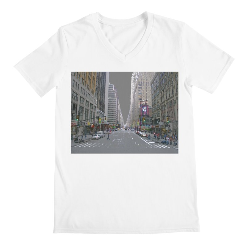 NYC PAINT Men's Regular V-Neck by designsbydana's Artist Shop