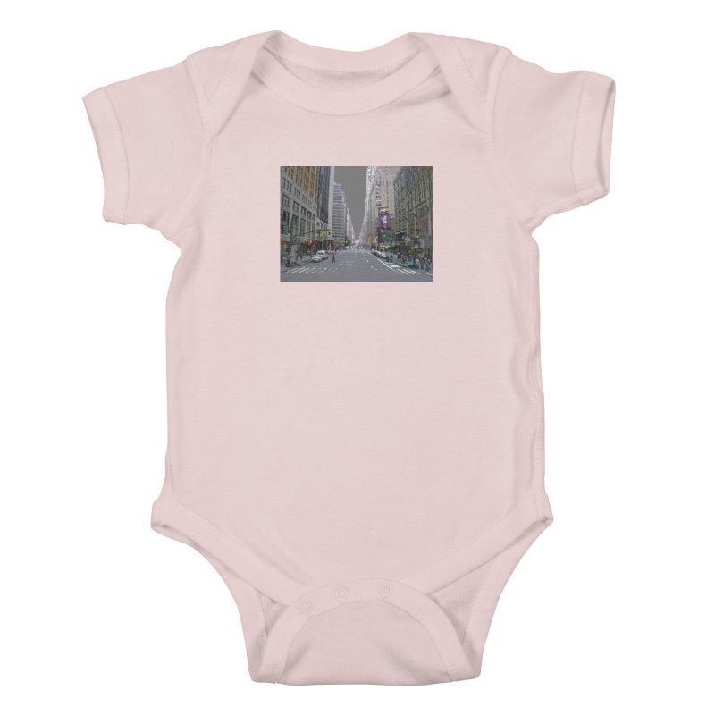 NYC PAINT Kids Baby Bodysuit by designsbydana's Artist Shop