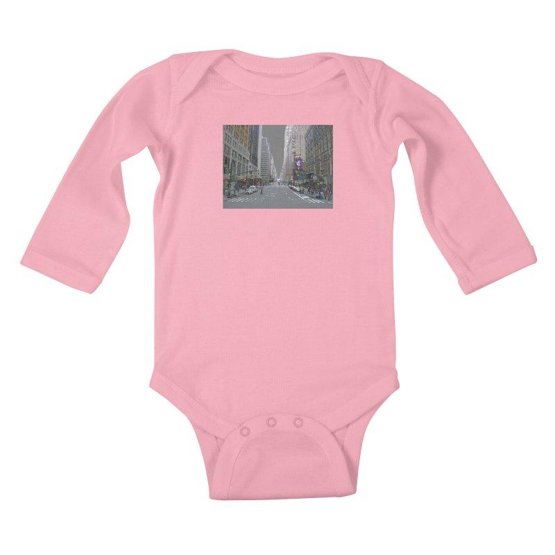 NYC PAINT Kids Baby Longsleeve Bodysuit by designsbydana's Artist Shop