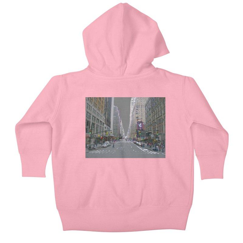 NYC PAINT Kids Baby Zip-Up Hoody by designsbydana's Artist Shop
