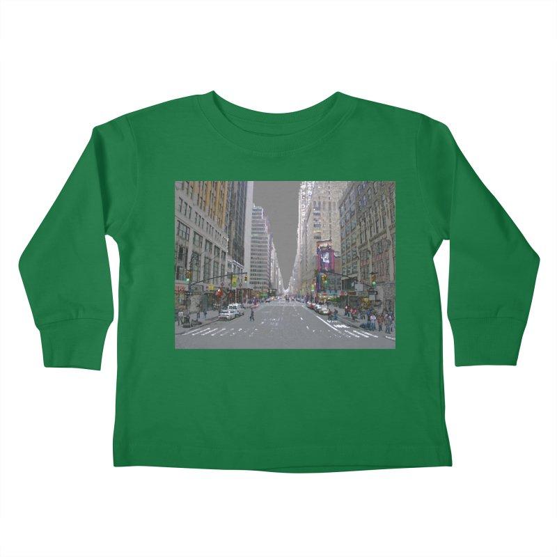 NYC PAINT Kids Toddler Longsleeve T-Shirt by designsbydana's Artist Shop