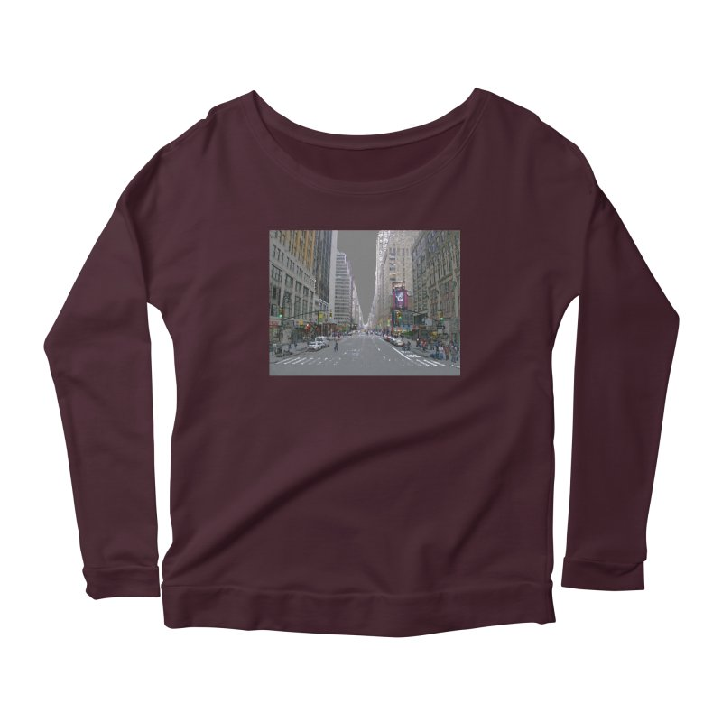 NYC PAINT Women's Scoop Neck Longsleeve T-Shirt by designsbydana's Artist Shop