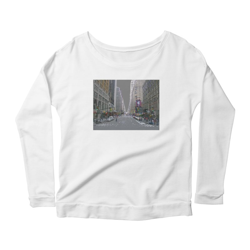NYC PAINT Women's Scoop Neck Longsleeve T-Shirt by designsbydana's Artist Shop