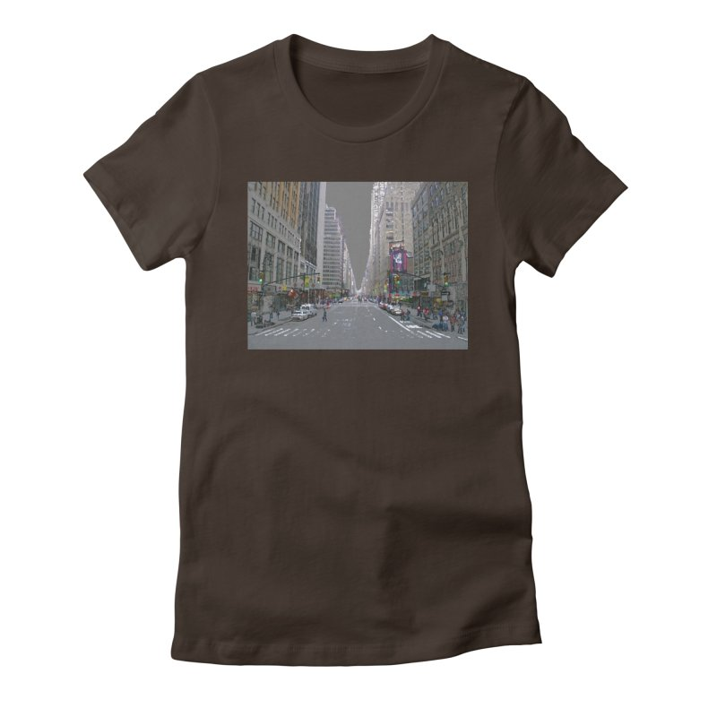 NYC PAINT Women's Fitted T-Shirt by designsbydana's Artist Shop