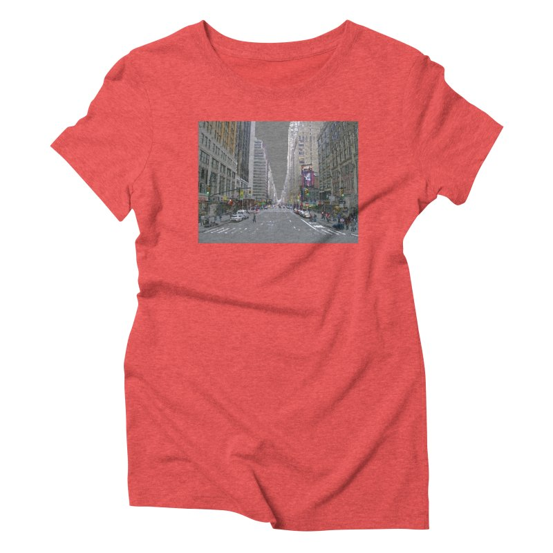 NYC PAINT Women's Triblend T-Shirt by designsbydana's Artist Shop