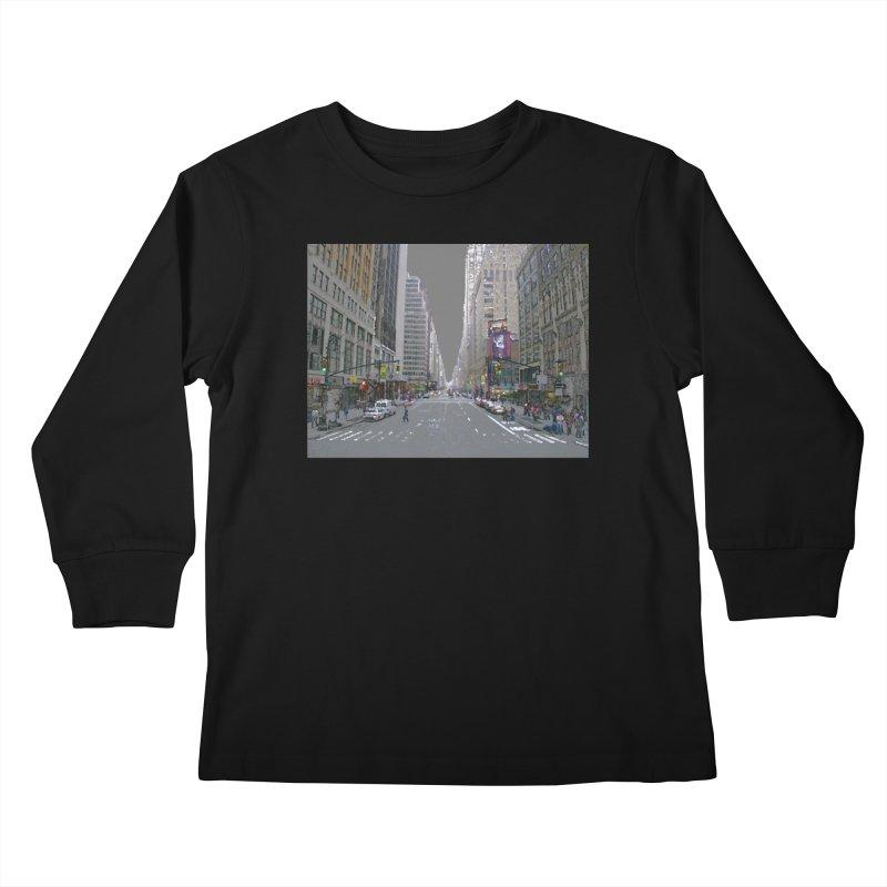 NYC PAINT Kids Longsleeve T-Shirt by designsbydana's Artist Shop