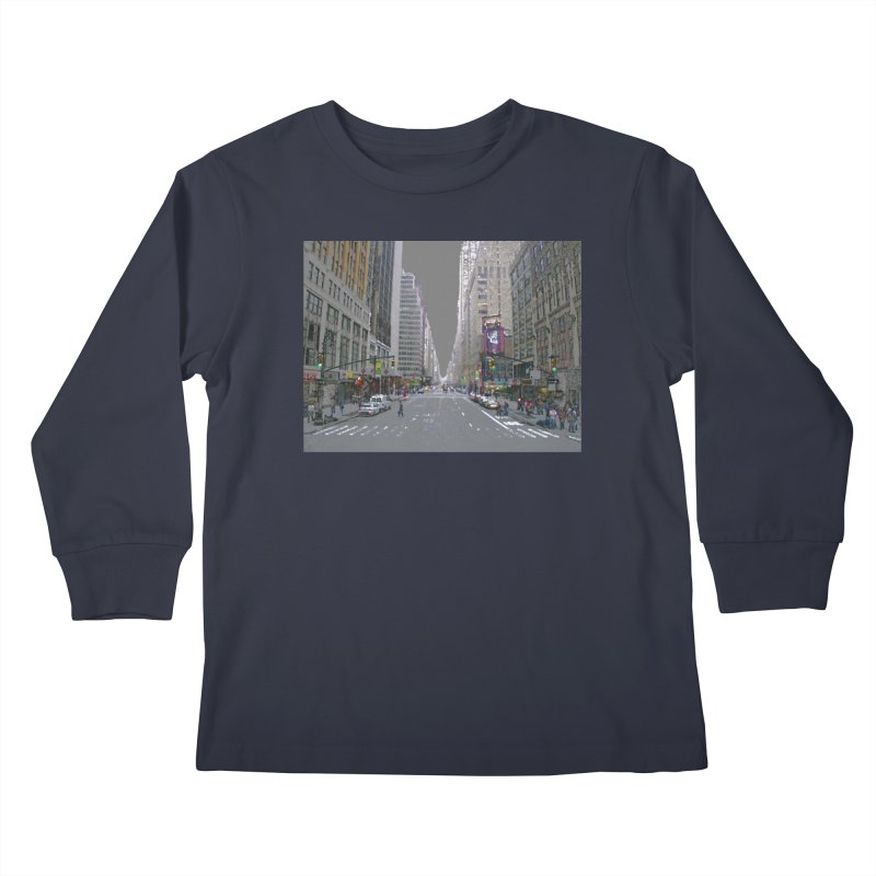 NYC PAINT Kids Longsleeve T-Shirt by designsbydana's Artist Shop