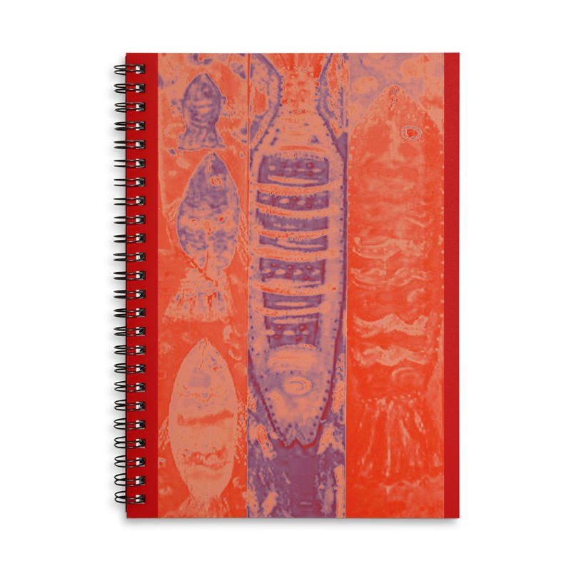 FISH BATIK Accessories Lined Spiral Notebook by designsbydana's Artist Shop