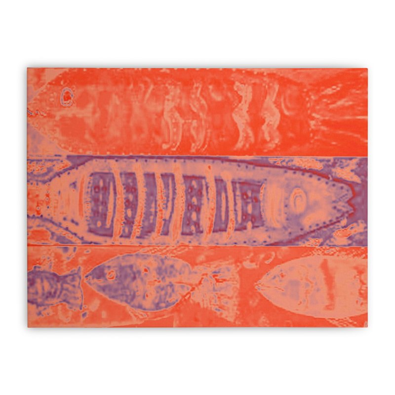 FISH BATIK Home Stretched Canvas by designsbydana's Artist Shop