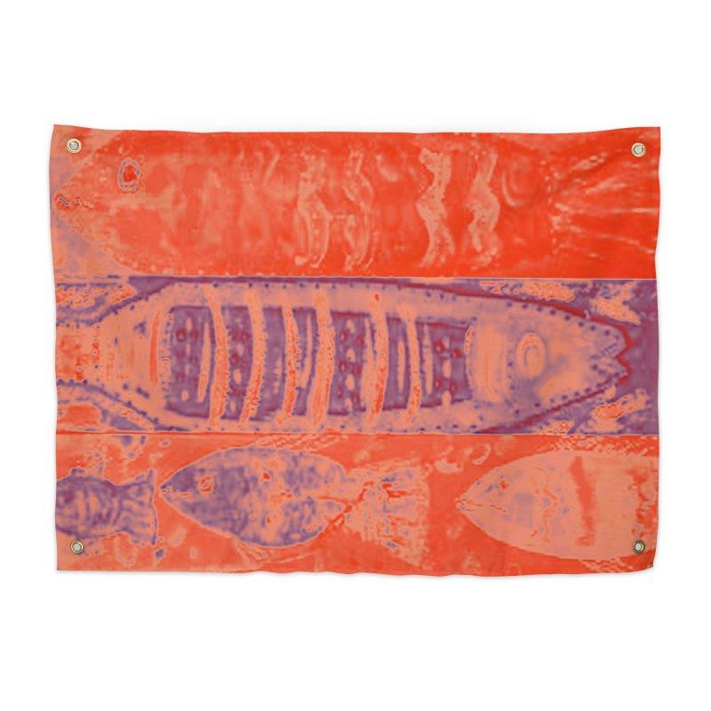 FISH BATIK Home Tapestry by designsbydana's Artist Shop