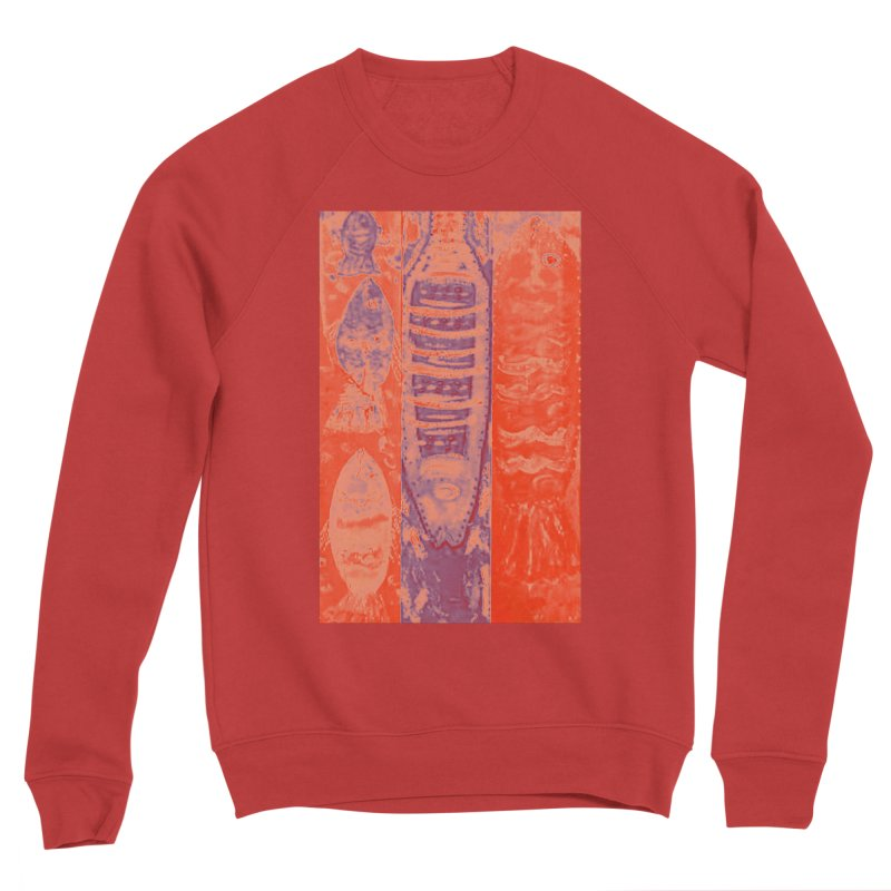 FISH BATIK Women's Sponge Fleece Sweatshirt by designsbydana's Artist Shop