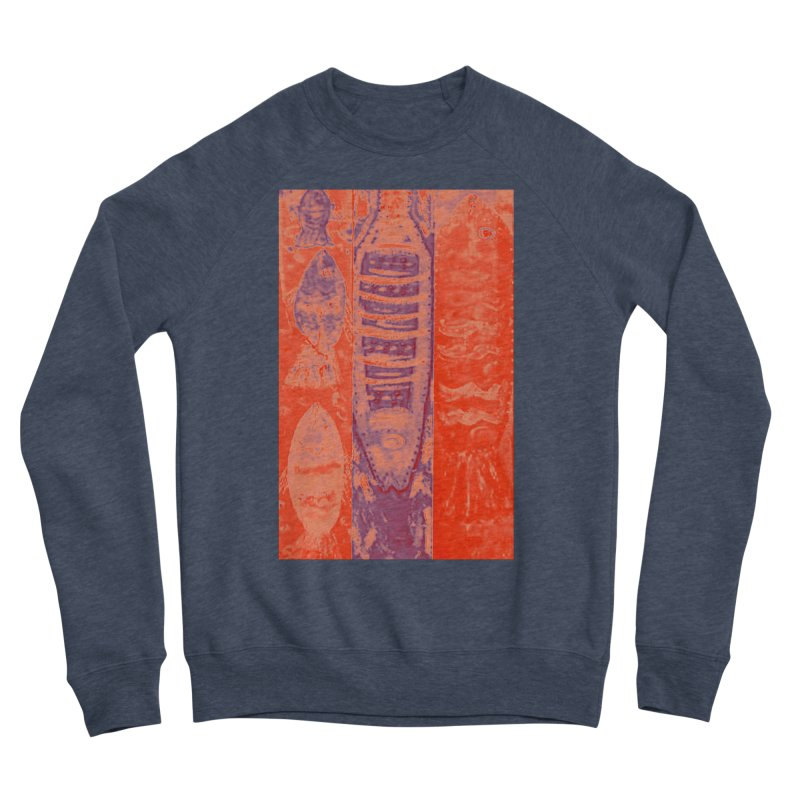 FISH BATIK Men's Sponge Fleece Sweatshirt by designsbydana's Artist Shop