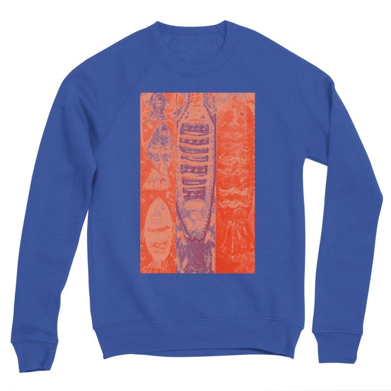 FISH BATIK Women's Sponge Fleece Sweatshirt by designsbydana's Artist Shop