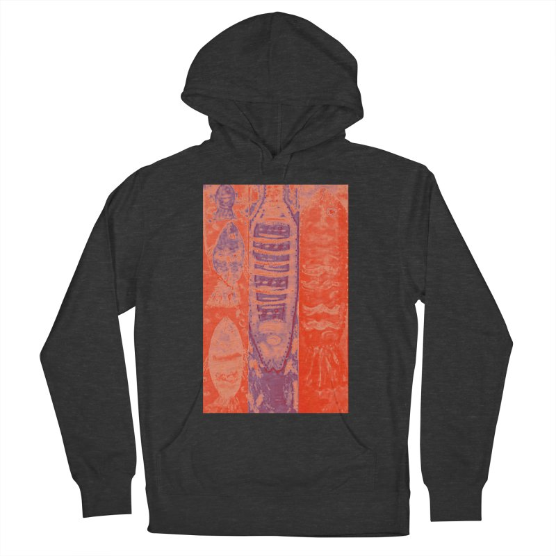 FISH BATIK Men's French Terry Pullover Hoody by designsbydana's Artist Shop