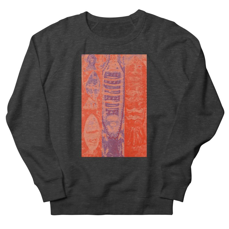 FISH BATIK Women's French Terry Sweatshirt by designsbydana's Artist Shop