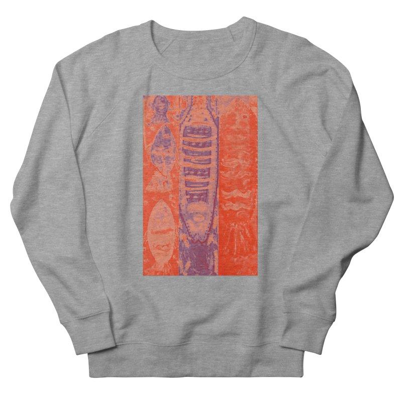 FISH BATIK Women's French Terry Sweatshirt by designsbydana's Artist Shop