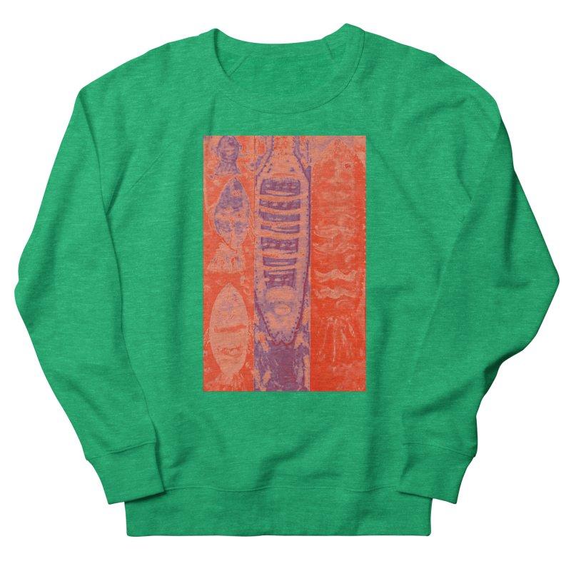 FISH BATIK Men's French Terry Sweatshirt by designsbydana's Artist Shop