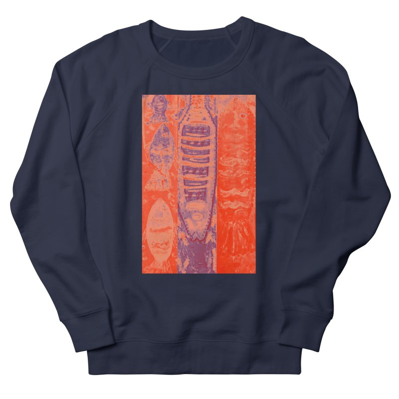 FISH BATIK Men's French Terry Sweatshirt by designsbydana's Artist Shop