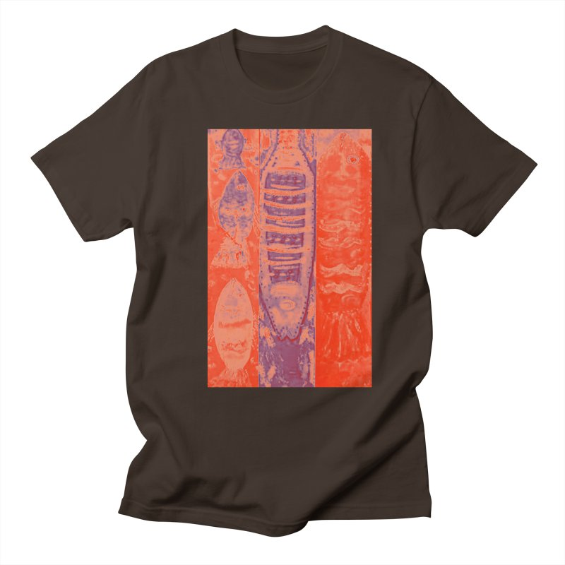 FISH BATIK Men's Regular T-Shirt by designsbydana's Artist Shop