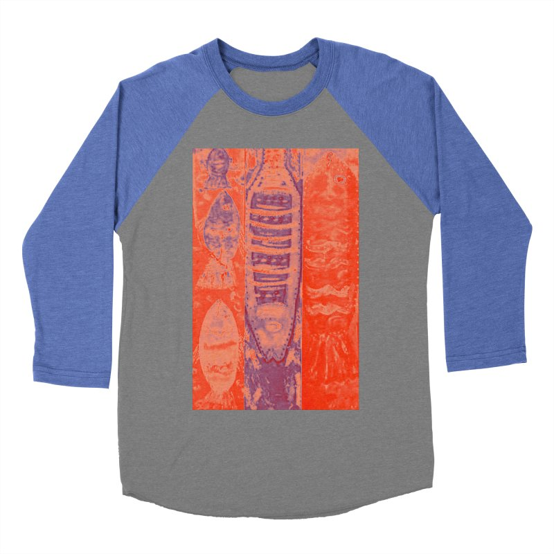 FISH BATIK Women's Baseball Triblend Longsleeve T-Shirt by designsbydana's Artist Shop