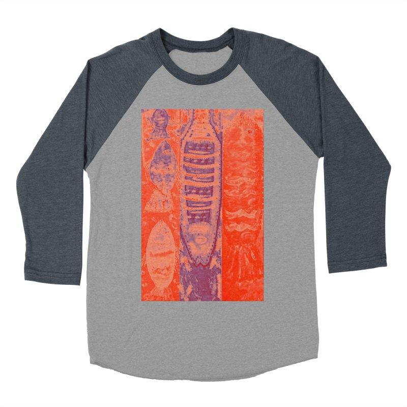 FISH BATIK Women's Baseball Triblend Longsleeve T-Shirt by designsbydana's Artist Shop