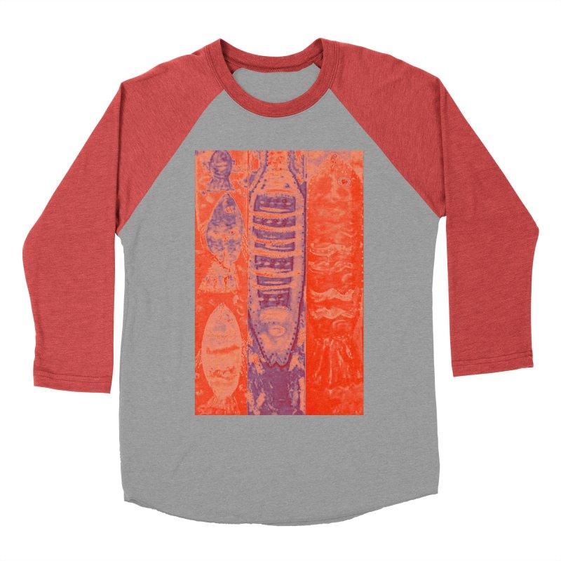 FISH BATIK Men's Baseball Triblend Longsleeve T-Shirt by designsbydana's Artist Shop