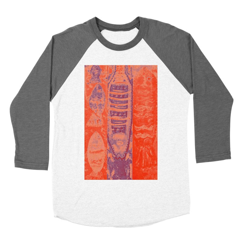 FISH BATIK Men's Baseball Triblend Longsleeve T-Shirt by designsbydana's Artist Shop