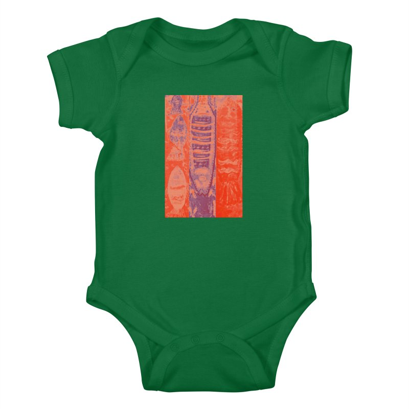 FISH BATIK Kids Baby Bodysuit by designsbydana's Artist Shop