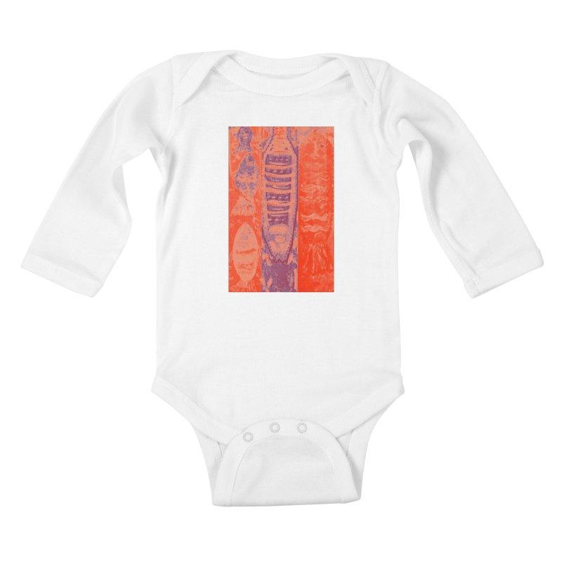 FISH BATIK Kids Baby Longsleeve Bodysuit by designsbydana's Artist Shop